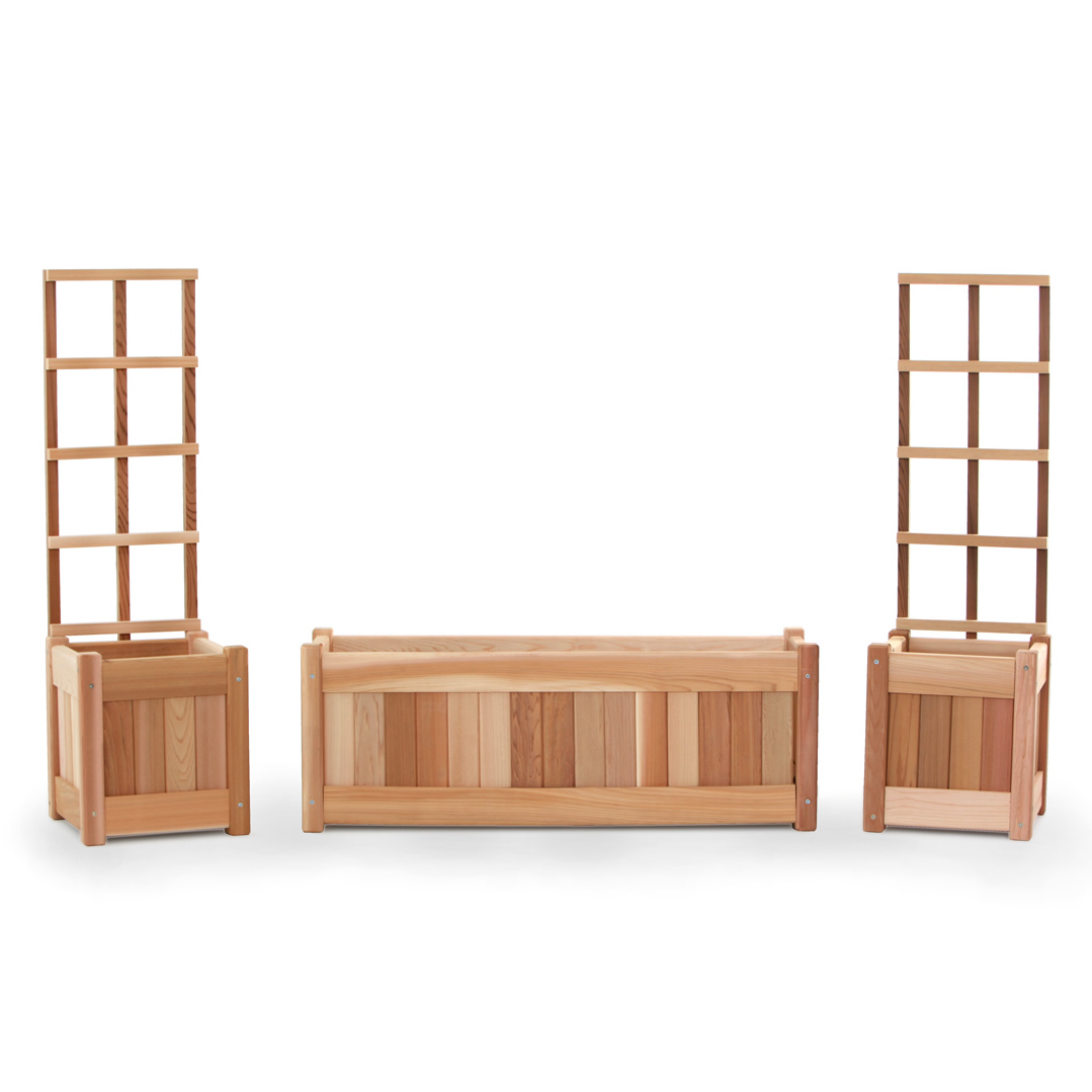 Planter Trellis Sets And Planter Boxes By All Things Cedar