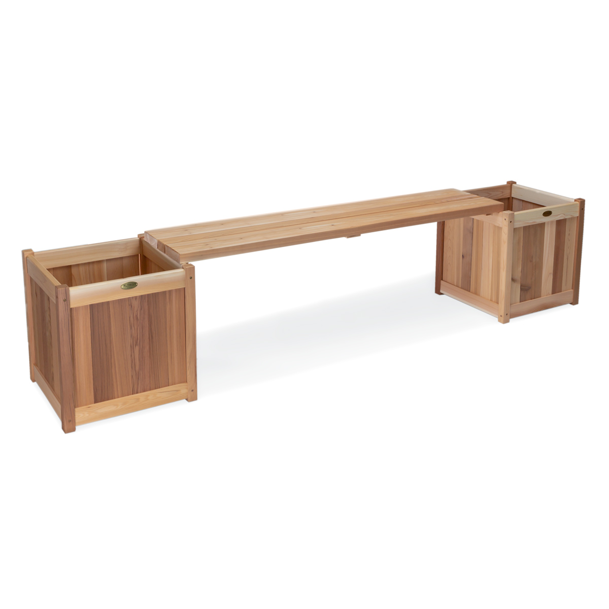 Wooden Planter With Benches By All Things Cedar Furniture